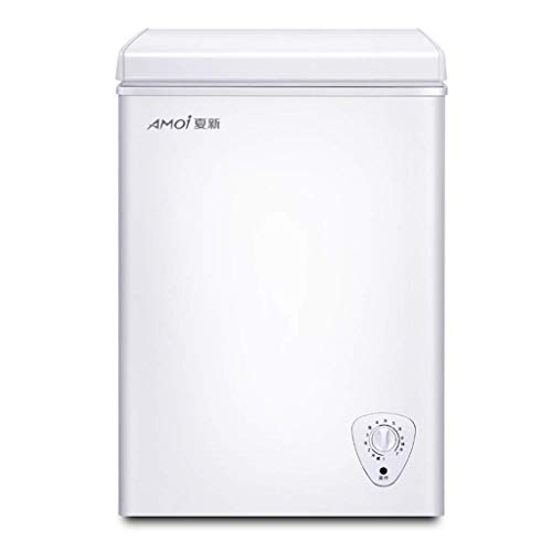 QCYSK Mini-réfrigérateur Congélateur Armoire Commercial à Porte Simple, Réfrigérateur Domestique de Grande capacité avec Commande de Thermostat réglable, Blanc