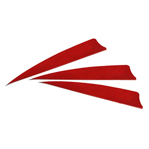 30 Stücke Rot 4 Zoll Pfeil Feder Schild Zurück Links Echt Türkei Fletch Bogenschießen Zubehör Handwerk (Feder 4 Pfeil)
