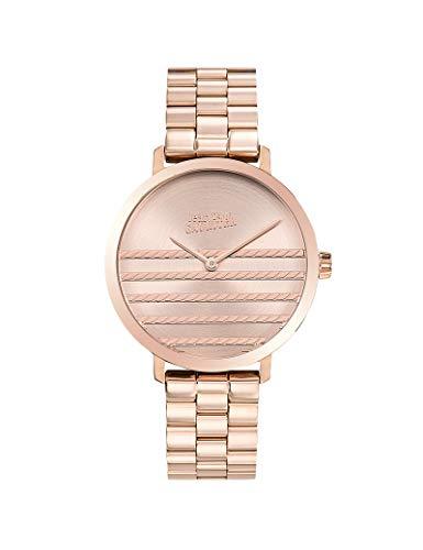 Jean-Paul Gaultier - Reloj de Pulsera para Mujer, Color Rosa y Dorado