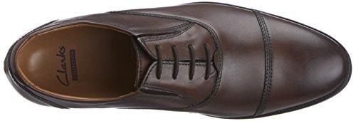 Clarks Kalden Cap, Chaussures de ville homme Marron (Brown Leather)