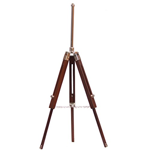 Collectibles Buy Vintage Wooden Tripod Bulb Shade Fixture Stand Table Lamp Brown by Collectibles Buy (Stand Lampenschirm)