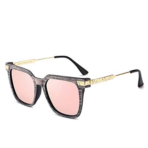 Taiyangcheng Polarisierte Sonnenbrille New Polarisierte Sonnenbrille Frauen Vintage Cat Eye Holzmaserung Rahmen Sonnenbrille Mode Brillen Uv400,lila