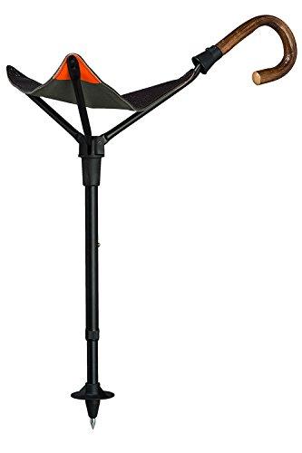 Gastrock Sitzstock PRAKTUS Safety Höhenverstellbar mit Eichengriff