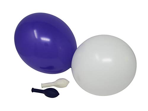 50 Luftballons je 25 royal lila & weiß Qualitätsballons 27 cm Ø (Standardgröße B85) (Nähe Von In Helium-ballons Der Mir)