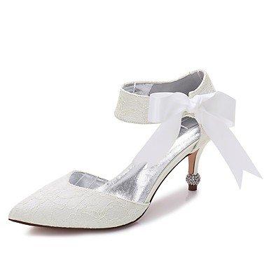 Wuyulunbi@ Scarpe donna raso Pizzo Primavera Estate Comfort scarpe matrimonio Punta di raso Bowknot fiore per party di nozze & abito da sera US9 / EU40 / UK7 / CN41