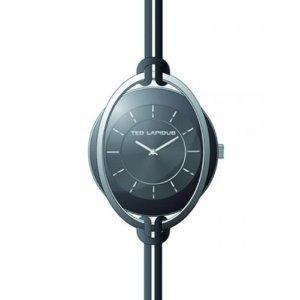 Ted Lapidus–a0613rnin–Reloj Mujer–Cuarzo Analógico–Esfera Negra–Correa Piel Negro