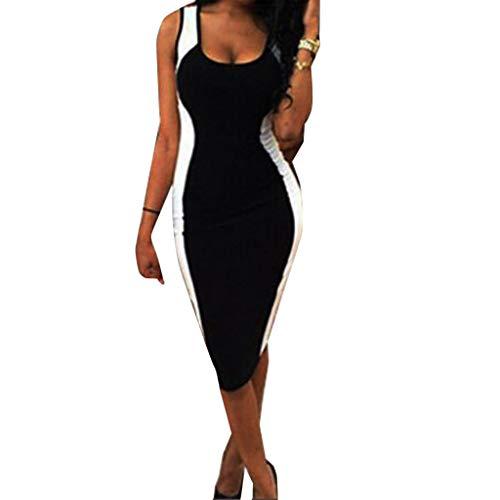Amlaiworld Damen unregelmäßige Perspektive ärmel hoher Kragen figurbetontes Kleid, Neue Herbst&Winter warme Pullover Kleid (S, SchwarzA001) - Kleider Neue