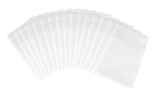 Luxpresso Damast Stoffservietten/Mundservietten mit Atlaskante weiß, 50 x 50 cm, 20 Stück