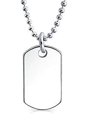 Bling Jewelry Kinder Petite Dog Tag Anhänger Sterling Silber Halskette