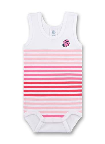 Mädchen Ärmelloses Baumwoll-pyjamas (Sanetta Baby-Mädchen Formender Body, Weiß (White 10), 92 (Herstellergröße: 092))