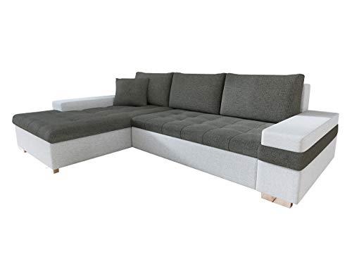Mirjan24  Design Ecksofa Bangkok Mini, Moderne Eckcouch mit Schlaffunktion und Bettkasten, schwerentflammbar Stoff, Ecksofa für Wohnzimmer, Gästezimmer, Couch L-Form, Wohnlandschaft,