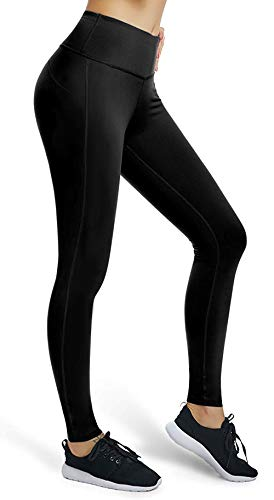 VUTRU Damen Workout Leggings Bauchkontrolle Yoga Laufhose Kompressionshose, Damen, Basic-Black, Medium -