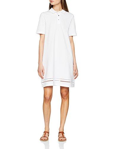 Tommy Hilfiger Damen Daphne Polo Dress SS Kleid, Weiß (Classic White 100), 36 (S) -