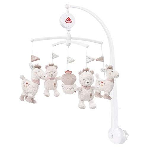 Fehn Peru Musik-Mobile Lama & Bär Spieluhr-Mobile mit niedlichen Figuren zum Beobachten, Lauschen & Staunen - Zum Befestigen am Bett für Babys von 0-5 Monaten