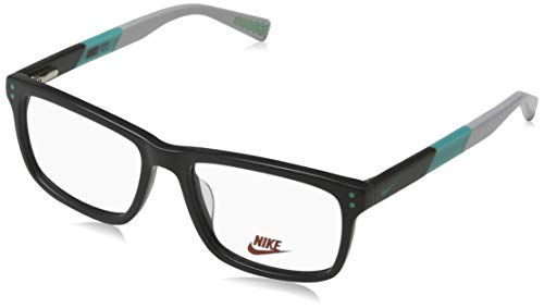 Nike Herren 5536 070 49 Brillengestelle, Dark Grey-Hyper Jade