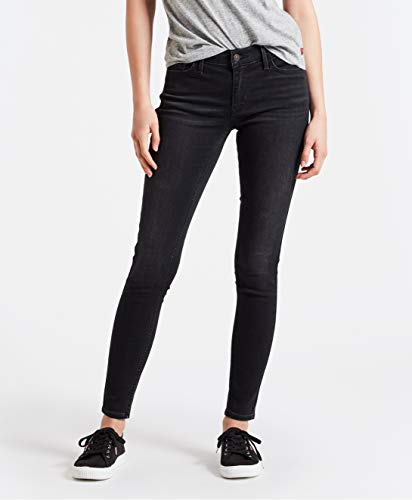 Levi s Innovation Super Skinny Vaqueros Gris Freak out Without Damages 0050 W26 L30 Talla del Fabricante 26 30 para Mujer