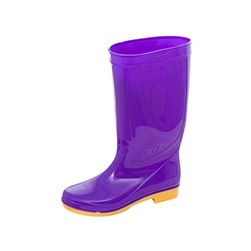 Xinwcang Damen Halbschaft Gummistiefel Stiefel Regen Stiefel wasserdichte Rain Boots Lila Asia 40 Purple Rain Outfit