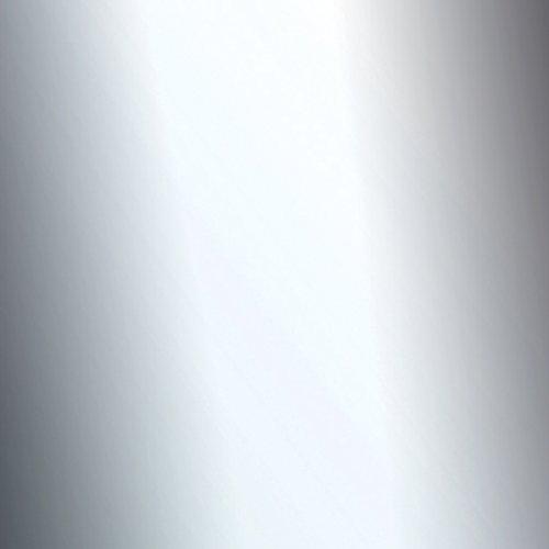 Klebefolie Industrial Optik Spiegel hochglanz Dekofolie Möbelfolie Tapeten selbstklebende Folie, PVC, silber, 45cm x 1,5m, 350µm (Stärke: 0,35 mm), Venilia 53128