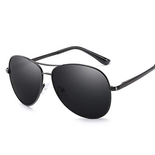 Easy Go Shopping Polarisierte Pilot Driving Classic Metallrahmen Froschspiegel UV-Schutz Unisex-Sonnenbrille Sonnenbrillen und Flacher Spiegel (Color : Schwarz, Size : Kostenlos)