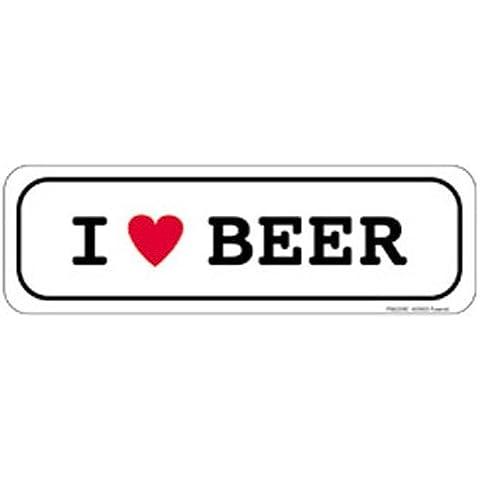 Empire Merchandising Adesivi divertenti I love Beer - Love Beer