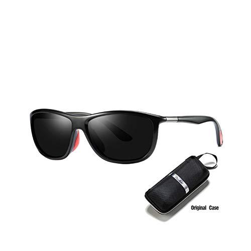 Sport-Sonnenbrillen, Vintage Sonnenbrillen, Sunglasses Men Polarisiert Vintage Mens Sunglasses Brand Designer Sun Glasses For Men Driving Sport Goggles UV400 PA1096 C1 Black red black1