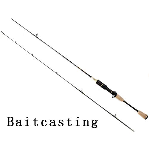 Spinning Köder Angelrute Japan Carbon Fiber 1.8m 2 Teile Bereiche UL Ultra Rods Fast Action BaitSmall Lake Fishing roding Rod, Dunkelgrau, 1,8 m