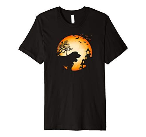 Englischer Cocker Spaniel Halloween T-Shirt Hunde-Silhouette