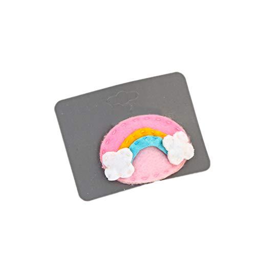 Clamp Pin (IMHERE W U Frauen-Mädchen-Karikatur-Haarspange Kinder Süßigkeit Blumen-Regenbogen Obst Blatt Tierisches Haar Pin Clamp Kopfschmuck)