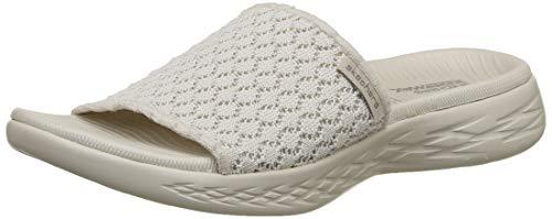 Skechers on-the-go 600-stellar, sandali a punta aperta donna, beige (natural nat), 40 eu