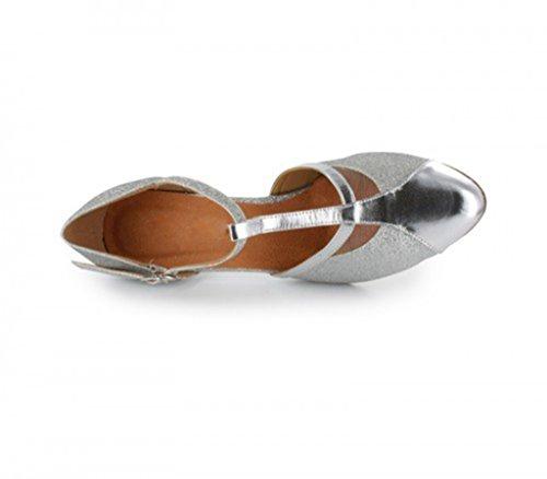 TDA ,  Damen Durchgängies Plateau Sandalen mit Keilabsatz 6cm Silver