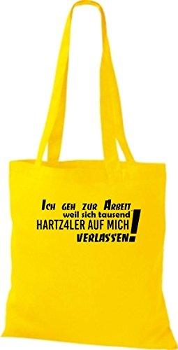 Shirtstown humoristique avec inscription en allemand'ich pochette 12,7 de travail parce que mille ... plusieurs couleurs Jaune - Jaune