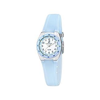 Calypso watches – Reloj analógico de cuarzo para niña con correa de poliuretano, azul