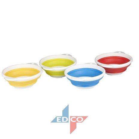Silikon faltbares Sieb Seiher Nudelsieb Faltsieb Abtropfsieb Küchensieb faltbar (blau)