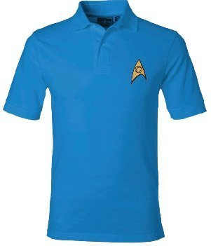 Star Trek Starfleet Uniform Erwachsene Science blau Polo Shirt (Small) Star Trek Science