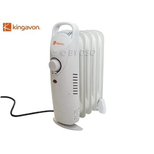 31lZn2yD4dL. SS500  - Kingavon OR103 Mini 500w Oil Filled Electric Radiator: Small Lightweight Portable 5 Fin Heater