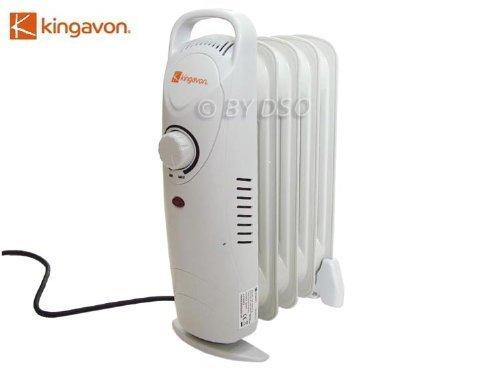 31lZn2yD4dL - Kingavon OR103 Mini 500w Oil Filled Electric Radiator: Small Lightweight Portable 5 Fin Heater