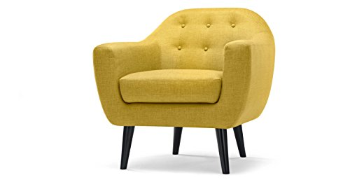 FabHomeDecor Adele Single Seater Sofa (Yellow)