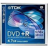 TDK 5 x DVD+R 4.7GB 4.7GB DVD+R 5pieza(s) - DVD+RW vírgenes (4,7 GB, DVD+R, 120 mm, 5 pieza(s), 120 min, 16x)