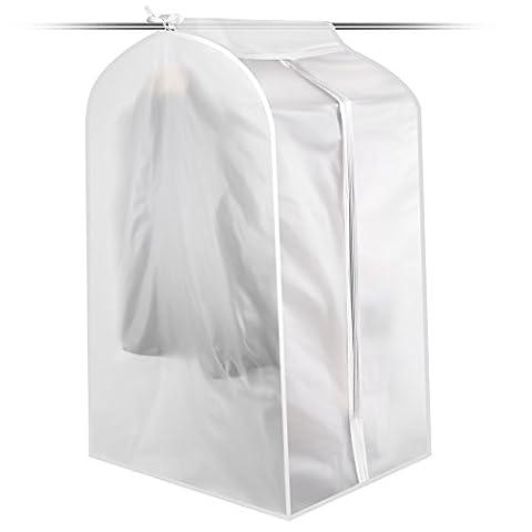 pliable protégé contre la poussière Vêtements Suit Housse à vêtements Sac de rangement, Tissu, transparent, LARGE SIZE