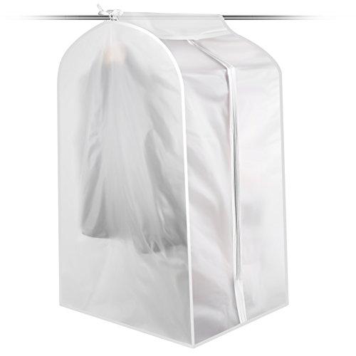 Faltbar Staubdicht Kleidung Anzug Kleidersack Aufbewahrungstasche, Textil, durchsichtig, LARGE SIZE (Klare Vinyl-anzug-tasche)