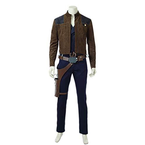 Kostüm Alte Solo Han - nihiug Star Wars Gerücht Ranger Soro COS Kleidung komplettes Set Han Solo Hansolo mit dem gleichen Mantel Kleidung Halloween Cosplay,Brown-2XL(183to187)