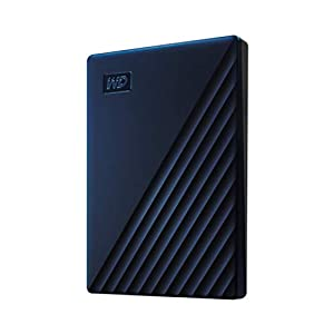 WD 2 TB My Passport for Mac Portable Hard Drive - Time Machine Ready with Password Protection, Midnight Blue