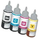Set 4 Tintenpatronen kompatibel für EPSON EcoTank ET-2500 ET-2550 ET-2600 ET-4500 ET-4550 ET-14000 L120 L200 L210 L310 L350 L355 L365 L555 L1300 | 70ml T6641 T6642 T6643 T6644