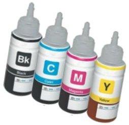Set 4 Tintenpatronen kompatibel für EPSON EcoTank ET-2500 ET-2550 ET-2600 ET-4500 ET-4550 ET-14000 L120 L200 L210 L310 L350 L355 L365 L555 L1300 | 70ml T6641 T6642 T6643 T6644 -