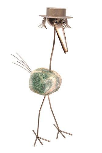 �tzige. Dieser Steinvogel kann sprechen! Ausgestattet mit einem Bewegungssensor, plappert er das nach, was Sie ihm vorher auf sein Wiedergabegerät aufgespielt haben. Geht man an ihm vorbei, spricht, singt oder pfeift er. Ein Unikat - Steinvogel für Haus und Garten. Eine Skulptur, die auch die Terasse und den Balkon dekorativ aufwertet. Die Gartenfigur ist aus Edelstahl mit Naturstein und somit wetterfest und rostfrei. Ideal auch als Herren Geschenk. (Vogel Pfeift)