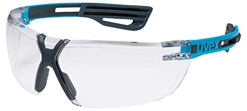 Uvex X-Fit Pro Schutzbrille - Transparente Arbeitsbrille - Blau-Schwarz