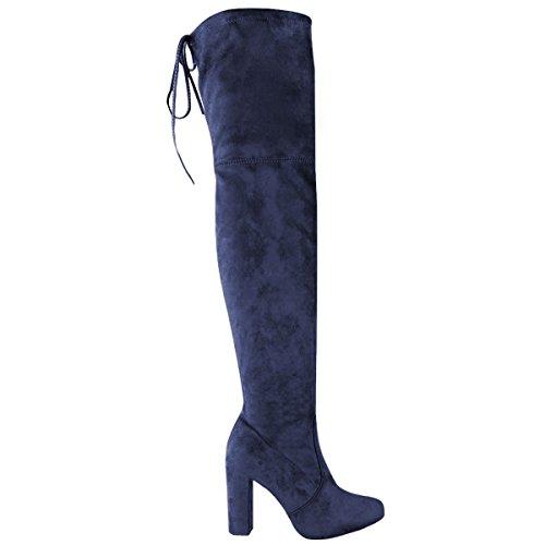 Shoesdays ,  Damen Über dem Knie Marineblau