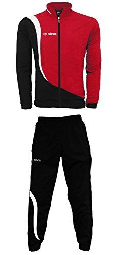 Trainingsanzug/Trainingsanzüge in 3 Farben -Kinder/Erwachsene Größen lieferbar - Modell alpas Elegance (rot/weiß/schwarz, 140)