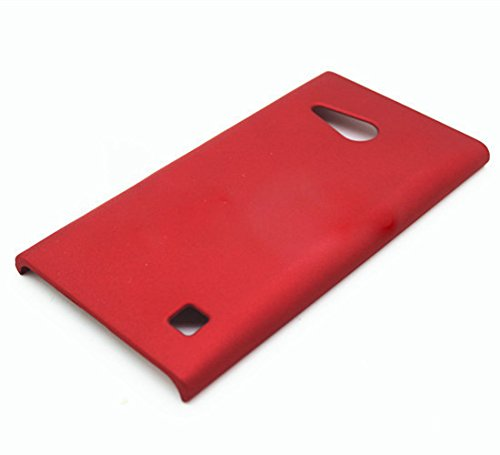 WOW Imagine Matte Rubberised Matte Hard Case Back Cover For Nokia Lumia 730 (Maroon Wine Red)