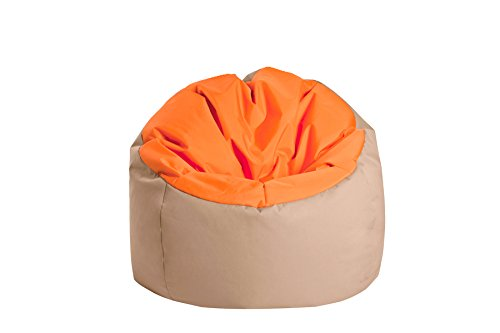 Jumbo Bag 30170-42 Pouf Globe Polyester Orange/Noisette 70 x 70 x 70 cm